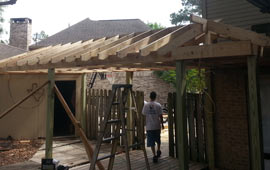 Framing New Patio Cover