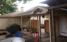 New Patio Cover with Fans
